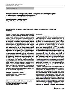 Preparation of Phosphatidylated Terpenes via Phospholipase D-Mediated Transphosphatidylation