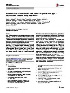 Prevalence of cardiovascular risk factors in youth with type 1 diabetes and elevated body mass index