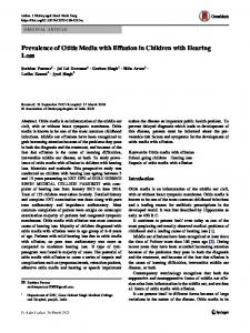 Prevalence of Otitis Media with Effusion in Children with Hearing Loss