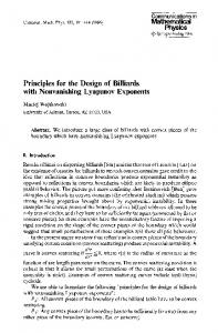 Principles for the design of billiards with nonvanishing Lyapunov exponents