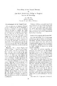 Proceedings of the annual meeting of the royal australasian college of surgeons section of proctology May 20, 1965 Sydney, Australia