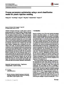Process parameters optimization using a novel classification model for plastic injection molding