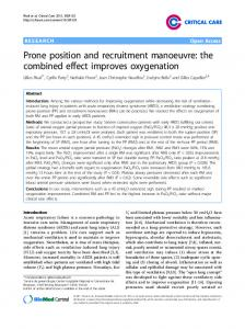 Prone position and recruitment manoeuvre: the combined effect improves oxygenation