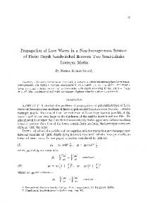 Propagation of love waves in a non-homogeneous stratum of finite depth sandwitched between two semi-infinite isotropic media