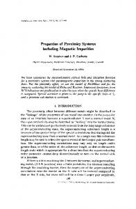 Properties of proximity systems including magnetic impurities