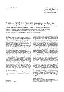 Prospective evaluation of the systemic immune response following abdominal, vaginal, and laparoscopically assisted vaginal hysterectomy