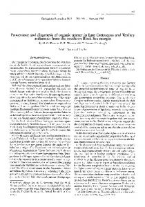 Provenance and diagenesis of organic matter in Late Cretaceous and Tertiary sediments from the southern Black Sea margin