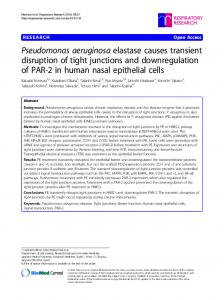 Pseudomonas aeruginosa elastase causes transient disruption of tight junctions and downregulation of PAR-2 in human nasal epithelial cells