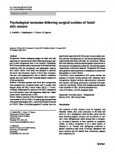 Psychological outcomes following surgical excision of facial skin cancers