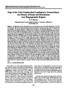 Pugs of the tribe Eupitheciini (Lepidoptera, Geometridae): the history of study and distribution over biogeographic regions