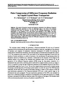 Pulse compression of difference frequency radiation by liquid crystal phase transparent
