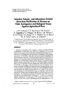 purification ofAnnona sp. Polar acetogenins and biological assay against agricultural pests