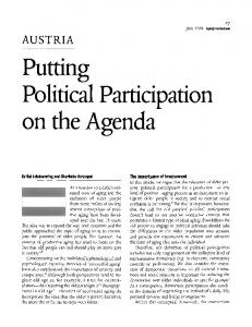 Putting political participation on the agenda