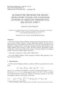 Quadrature methods for highly oscillatory linear and nonlinear systems of ordinary differential equations: part I