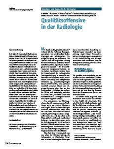 Quality offensive in radiology