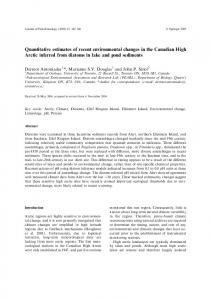 Quantitative estimates of recent environmental changes in the Canadian High Arctic inferred from diatoms in lake and pond sediments
