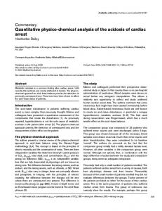 Quantitative physico-chemical analysis of the acidosis of cardiac arrest
