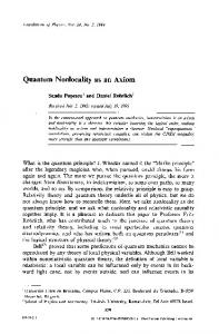 Quantum nonlocality as an axiom