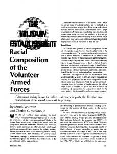 Racial composition of the volunteer armed forces