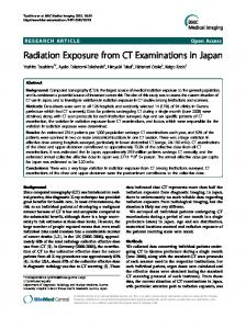 Radiation Exposure from CT Examinations in Japan