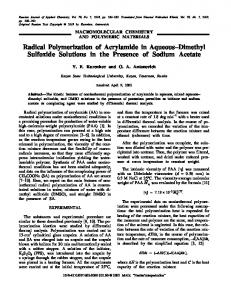 Radical Polymerization of Acrylamide in Aqueous-Dimethyl Sulfoxide Solutions in the Presence of Sodium Acetate
