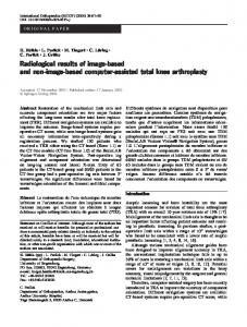 Radiological results of image-based and non-image-based computer-assisted total knee arthroplasty