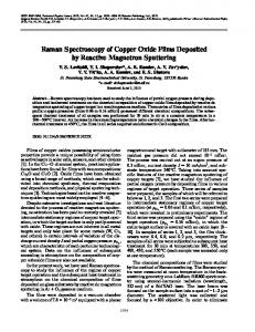 Raman spectroscopy of copper oxide films deposited by reactive magnetron sputtering