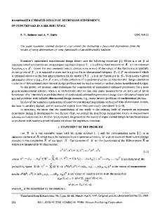 Randomized unbiased design of regression experiments on functionals in a Hilbert space
