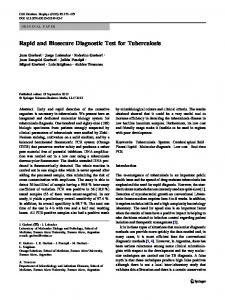 Rapid and Biosecure Diagnostic Test for Tuberculosis