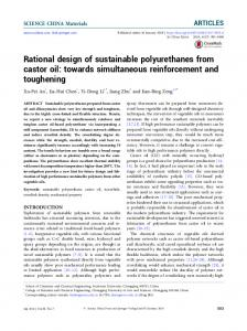 Rational design of sustainable polyurethanes from castor oil: towards simultaneous reinforcement and toughening