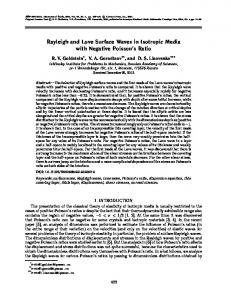Rayleigh and Love surface waves in isotropic media with negative Poisson's ratio