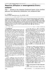 Reaction diffusion in heterogeneous binary systems