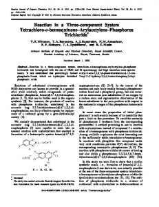 Reaction in a Three-component System Tetrachloro-o-benzoquinone-Arylacetylene-Phosphorus Trichloride