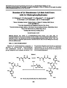 Reaction of 3,4-dioxohexane-1,6-dioic acid esters with 2,4-dinitrophenylhydrazine