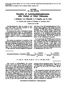 Reaction of acetylenediphosphonates with methyl or ethyl malonates