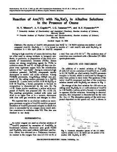 Reaction of Am(VI) with Na4XeO6 in Alkaline Solutions in the Presence of Ozone