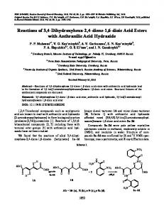 Reactions of 3,4-dihydroxyhexa-2,4-diene-1,6-dioic acid esters with anthranilic acid hydrazide