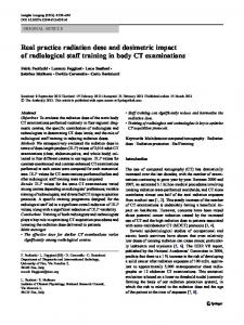 Real practice radiation dose and dosimetric impact of radiological staff training in body CT examinations