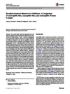 Recalled Gendered Behavior in Childhood: A Comparison of Androphilic Men, Gynephilic Men, and Androphilic Women in Japan