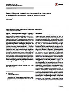 Recent biogenic traces from the coastal environments of the southern Red Sea coast of Saudi Arabia
