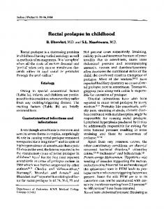 Rectal prolapse in childhood