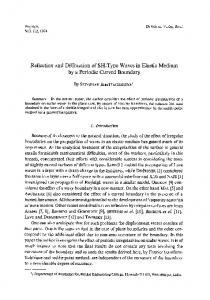 Reflection and diffraction of SH-type waves in elastic medium by a periodic curved boundary