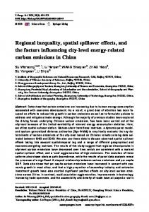 Regional inequality, spatial spillover effects, and the factors influencing city-level energy-related carbon emissions in China