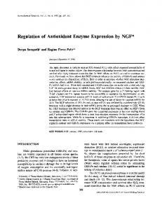 Regulation of Antioxidant Enzyme Expression by NGF