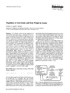Regulation of food intake and body weight by insulin