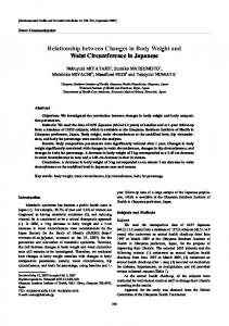Relationship between changes in body weight and waist circumference in Japanese