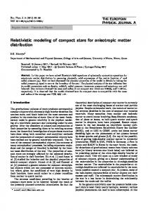 Relativistic modeling of compact stars for anisotropic matter distribution