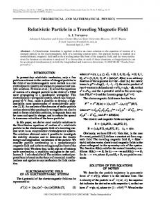 Relativistic particle in a traveling magnetic field