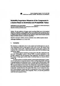 Reliability Importance Measures of the Components in a System Based on Semivalues and Probabilistic Values