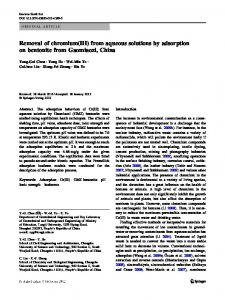 Removal of chromium(III) from aqueous solutions by adsorption on bentonite from Gaomiaozi, China